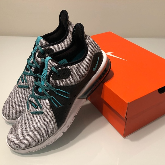 dd81d0adca751 New Nike Air Max Sequent 3 White/Hyper Jade/Black Boutique